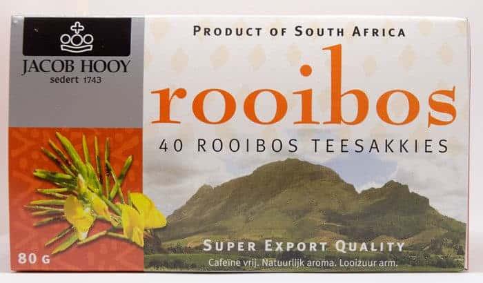 Baak Detailhandel Jacob Hooy Rooibos 40 Theezakjes Front