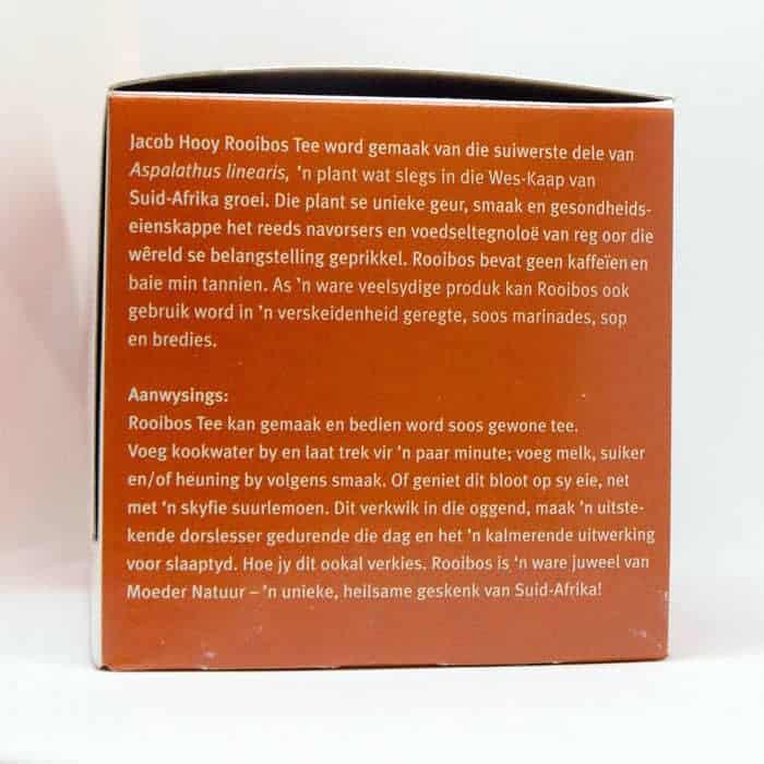 Baak Detailhandel Jacob Hooy Rooibos 40 Theezakjes Zijkant