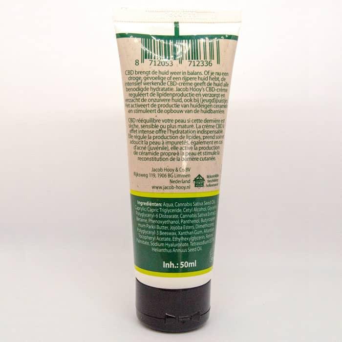 Baak Detailhandel Jacob Hooy Cbd Creme 50ml Tube Label