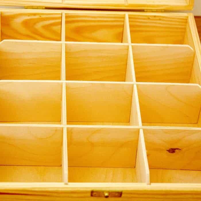 Baak Detailhandel Thee Kistje Hout 25x30cm 12 Vakken