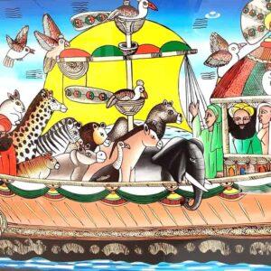 Baak Detailhandel Tekening Kelly Al Fouszein De Ark Van Noach In Afrika
