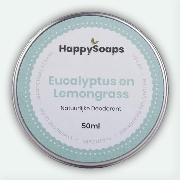 Natuurlijke Deodorant Eucalyptus En Lemongrass 50ml Happysoaps Baak Detailhandel