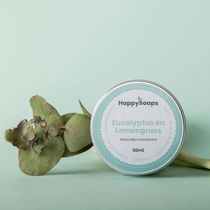 Natuurlijke Deodorant Eucalyptus En Lemongrass Happysoaps Baak Detailhandel