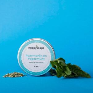 Natuurlijke Deodorant Rozemarijn En Pepermunt Happysoaps Baak Detailhandel