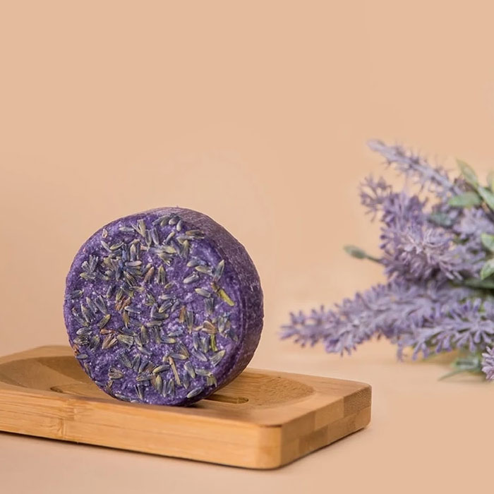 Purple Rain Natural Shampoo Bar Happy Soaps Baak Detailhandel